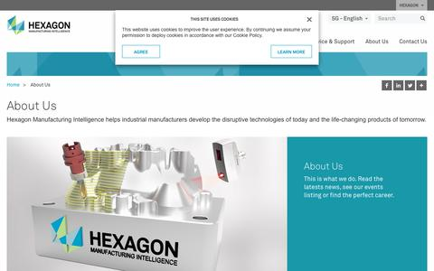 Screenshot of About Page hexagonmi.com - About Us | Hexagon Manufacturing Intelligence - captured Oct. 21, 2018