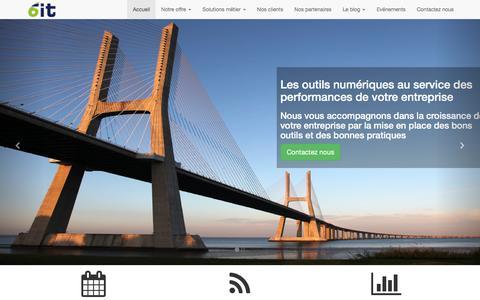 Screenshot of Home Page 6it.fr - 6 IT - Partenaire Odoo : ERP, CRM, e-Commerce pour les PME - captured Jan. 10, 2016
