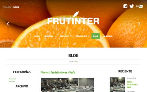 Screenshot of Blog frutinter.com - Blog - FrutinterFrutinter - captured June 4, 2016
