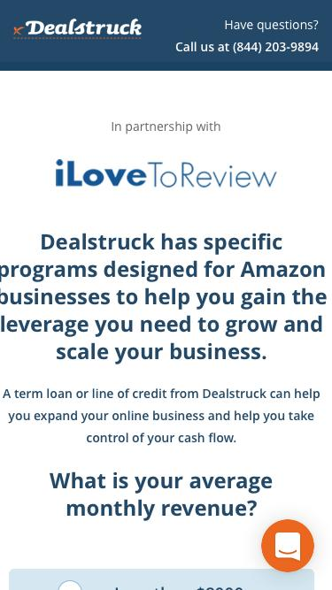 iLoveToReview and Dealstruck Welcome Page - Dealstruck