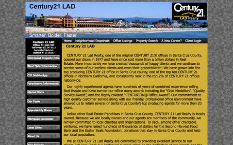 Screenshot of About Page c21lad.com - About Us | Century 21 LAD Realty - captured Oct. 2, 2014