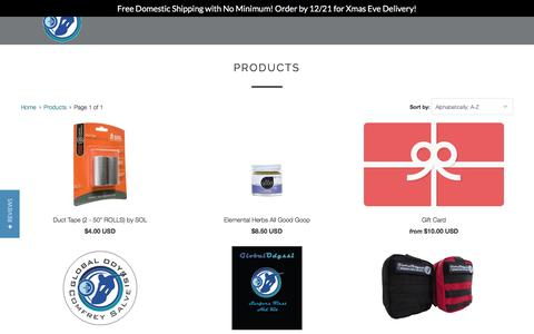 Screenshot of Products Page globalodyssi.com - Products - Global Odyssi - captured Dec. 10, 2015