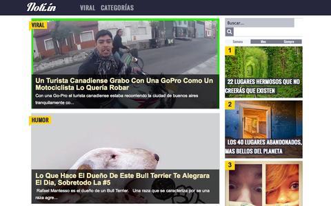 Screenshot of Home Page noti.in - Noti.in - Lo más interesante de la Red - captured Oct. 1, 2014