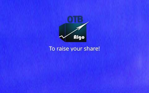 Screenshot of Home Page otb-algo.com - OTB-Algo - captured Oct. 12, 2014