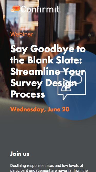 Webinar: Say Goodbye to the Blank Slate: Streamline Your Survey Design Process