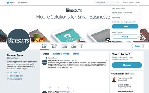 Bizness Apps (@BiznessApps)   Twitter