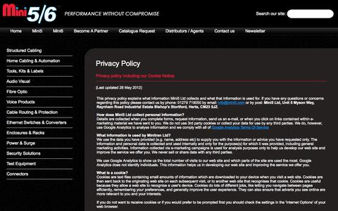Screenshot of Privacy Page mini5.com - Mini5 - High Quality Network Solutions - captured Oct. 26, 2014