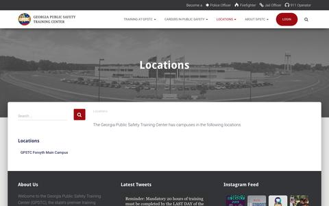 Screenshot of Locations Page gpstc.org - Locations - GPSTC - captured Sept. 28, 2018
