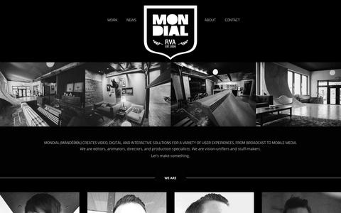 Screenshot of About Page mndl.com - MONDIAL |   About - captured Oct. 23, 2017