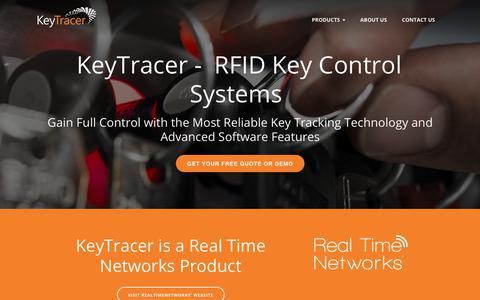 Screenshot of Home Page keytracer.com - Key Tracer Key Control Systems - captured Nov. 15, 2018
