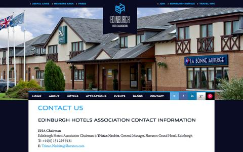 Screenshot of Contact Page stayinedinburgh.net - Contact the Edinburgh Hotels Association, contact the Edinburgh hotel and travel guide, book Edinburgh hotels - captured March 4, 2016