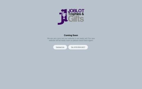 Screenshot of Home Page joblot-trophies.co.uk captured Oct. 13, 2018