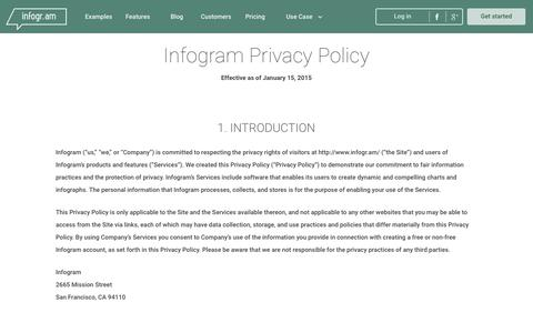 Screenshot of Privacy Page infogr.am - Privacy Policy   infogr.am - captured Feb. 27, 2017