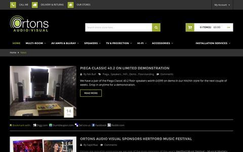 Screenshot of Press Page ortonsaudiovisual.com - News - captured Dec. 21, 2016