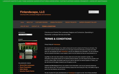 Screenshot of Terms Page finlandscape.com - TERMS & CONDITIONS | Finlandscape, LLC - captured Nov. 25, 2016