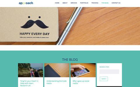 Screenshot of Blog approachpr.com - The blog - Approach PR - captured Dec. 25, 2015