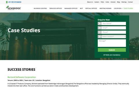 Screenshot of Case Studies Page newbridgeoffices.com - Case Studies   NewBridge - captured Oct. 1, 2018