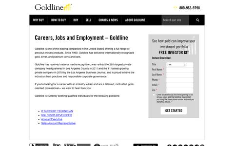 Careers | Goldline