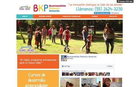 Screenshot of Home Page wix.com - Curso de verano para emprendedores - captured Feb. 14, 2016