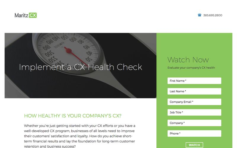 Implement a CX Health Check | MaritzCX