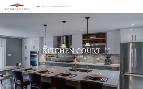 Screenshot of Home Page kitchencourt.com - KITCHEN COURT - captured Aug. 9, 2016