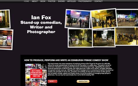 Screenshot of Home Page ianfox.net - Ian Fox - captured Aug. 4, 2015