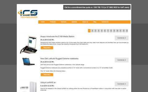 Screenshot of Blog icstech.com.au - Blog - ICS Technologies - captured Sept. 25, 2014