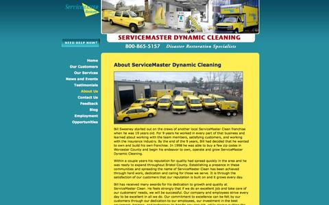 Screenshot of About Page smdynamic.com - About ServiceMaster Dynamic Cleaning - ServiceMaster Dynamic Cleaning - captured Oct. 7, 2014