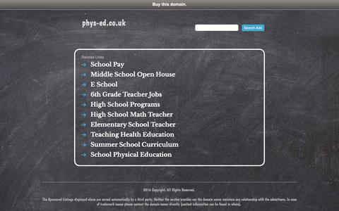 phys-ed.co.uk