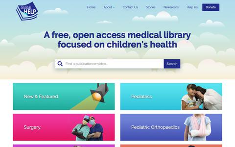 Screenshot of Home Page global-help.org - Welcome To Global HELP - Global HELP - captured Sept. 28, 2018