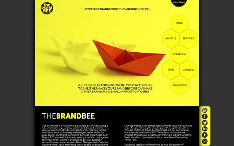 Screenshot of Home Page the-brandbee.com - The Brand Bee – Strategic Brand Consultancy India, Digital Branding Solutions - captured Sept. 30, 2014