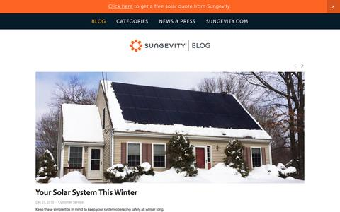 Screenshot of Blog sungevity.com - Sungevity Blog - captured Dec. 23, 2015