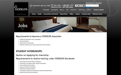 Screenshot of Jobs Page hodelpa.com - HODELPA | Jobs | Content - captured Nov. 10, 2016