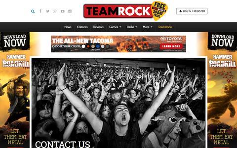 Screenshot of Contact Page teamrock.com - TeamRock - captured Nov. 23, 2015