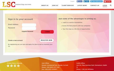 Screenshot of Login Page lscconnect.com - Login/Logout   LSC - captured Aug. 6, 2017