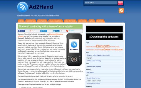Screenshot of Home Page ad2hand.co.uk - Ad2hand Bluetooth Marketing | Bluetooth Advertising | Free - captured Dec. 11, 2016