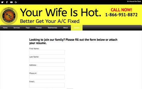Screenshot of Jobs Page atcair.com - Careers - Your Wife Is Hot. - captured Oct. 7, 2017