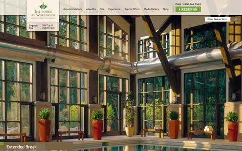 Screenshot of Home Page thelodgeatwoodloch.com - The Lodge At Woodloch | Spa Resorts in PA | Official Site - captured Feb. 1, 2016