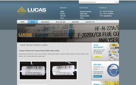 Screenshot of Blog lps.ie - Blog | Lucas Products and ServicesLucas Products and Services - captured Oct. 3, 2014