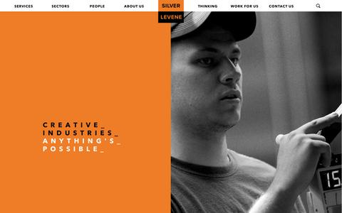 Screenshot of Press Page silverlevene.co.uk - Creative Industries - Silver Levene - captured June 13, 2017
