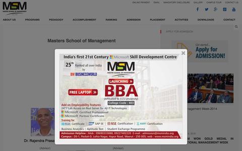 Screenshot of Team Page msmindia.org - Management - Master Schoolof Management - captured Feb. 12, 2016
