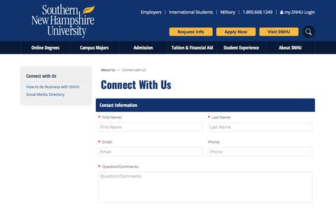 Connect with Us | SNHU