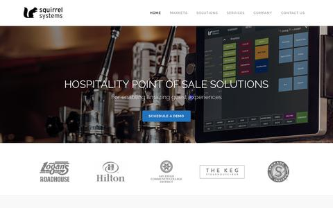 Screenshot of Home Page squirrelsystems.com - Squirrel Systems | Restaurant Point Of Sale, Customer Engagement, Kitchen Video, and More - captured July 1, 2017