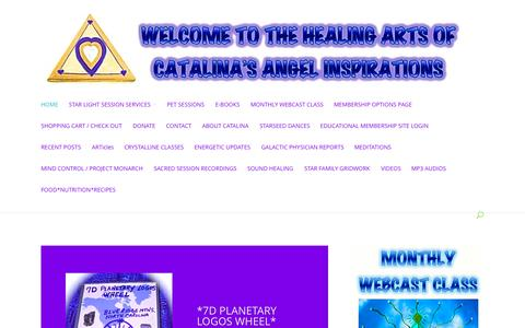 Screenshot of Home Page catalinasangels.com captured Oct. 2, 2014