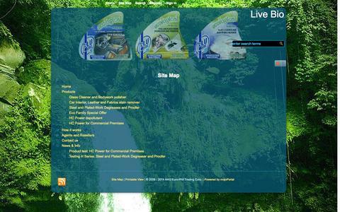 Screenshot of Site Map Page live-bio.com - Site Map - Live Bio - captured Sept. 30, 2014