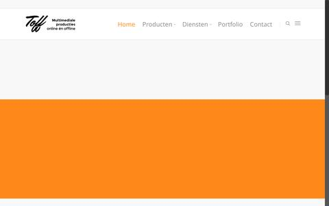 Screenshot of Home Page toff-e.nl - Toff-e producties - film maken in co-creatie, dus samen met u! - captured Feb. 22, 2016