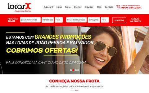Screenshot of Home Page locarx.com.br - LocarX - Aluguel de Carros - captured Sept. 29, 2018