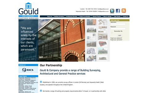 Screenshot of About Page gouldandco-chartered-surveyors.co.uk - Gould and Company Chartered Surveyors in London and West Sussex - captured Nov. 12, 2016