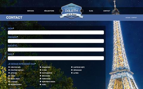 Screenshot of Contact Page daleth.fr - Contact | Daleth - captured Oct. 28, 2014