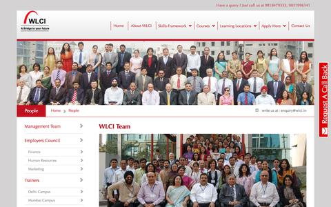 Screenshot of Team Page wlci.in - Fashion & Graphic Design Training Courses | Media and Business Management Programs - WLCI College - captured June 28, 2017